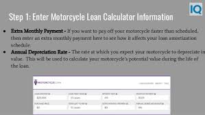 Mortgage Calculator With Extra Monthly And Yearly Payments Motorcycle Loan Calculator Motorcycle Payment Calculator