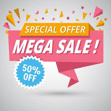 For Sales Nice Origami Banner For Sales Discounts Vector Free Download