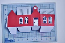 Foldable House Template The Perfect Gift School House Gift Box Design Mom