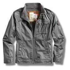 surplus vintage armored military style waxed jacket charcoal l