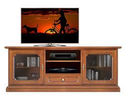 glass door tv cabinet in wood for living room sku 3059 lv