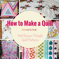 How to Make a Quilt: 34 Half Square Triangle Quilt Patterns ... & How to Make a Quilt: Half Square Triangle Quilt Patterns Adamdwight.com