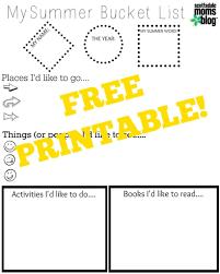 Summer Word List Create A Summer Bucket List Free Printable
