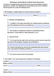 What Is A Lease Agreement Download Washington State Rental Lease Agreement Forms And 15
