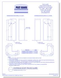 dwgoverhead door track guard 24 36 48