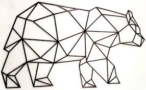 50 00 aed on geometric bear wall art with souq laser cut metal geometric bear wall art black uae