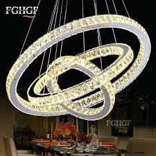 chandeliers crystal ring chandelier hot led chanlier light lamp suspension morn elipse crystal ring chandelier
