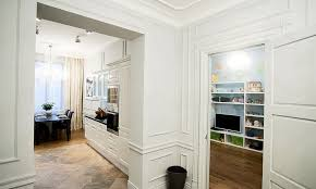 apartment in style of parisian eclecticism with droplets of hi tech featuring a blind bedroom european furniture and a graffitti wall in the playroom