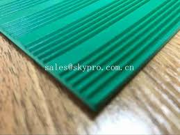 green 3mm thick durable corrugated rubber sheet anti in roll colorful rubber matting