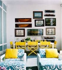 i like blue white and yellow for my living room dinning room the