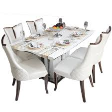 Marble Top Kitchen Table Set Tuscan Marble Top Dining Table Set With 6 Chairs Woodys Furniture