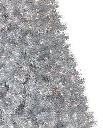 Silver Stardust Tinsel Artificial Christmas Tree Treetopia .