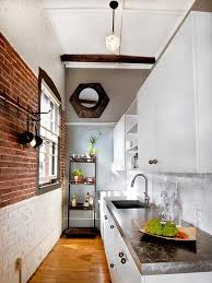 rustic modern loft kitchen