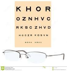 Eye Checking Chart And Eyeglasses Stock Vector