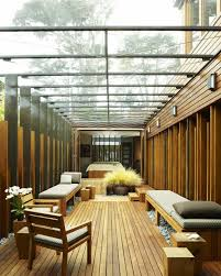 terrace outdoor design ideas glass roof