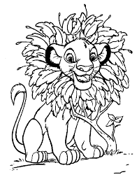 Lion King Coloring Page Coloring Pages
