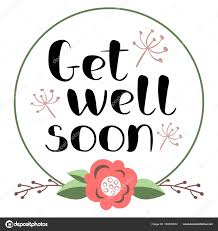 Get Well Soon Poster Get Well Soon Card Stock Vector Foxfinitive 184530614