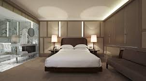 Apartment:Large Apartment Bedroom With Glossy Wall Anf Inner Lighting With  Fluorescent Lamps Combination Beautified