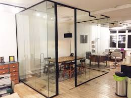 bonafide s london acoustic glass wall and door with jet black frame