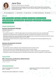 Resume With Picture Template Or Sample One Page Photo Free Download