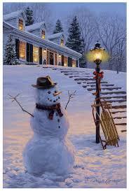 Winters Welcome   <b>Winter scenery</b>, <b>Snowman</b>, Winter christmas