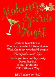 Company Christmas Party Invite Template Making Spirits Bright Company Christmas Party Invitations Company