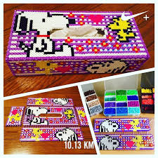 17 best images about perler ideas perler bead snoopy tissue box cover perler beads by yo si516