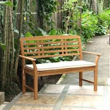 garden bench seat pads casual teak garden bench with taupe seat pad garden furniture seat cushions