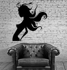 beautiful naked woman silhouette sexy decor wall mural vinyl art sticker unique gift m320 on black woman silhouette wall art with beautiful naked woman silhouette sexy decor wall mural vinyl art