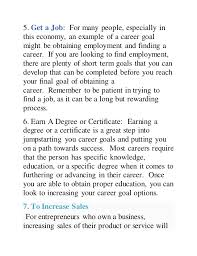 What Is A Career Goal Top 10 Career Goal Examples