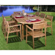 teak outdoor dining chairs. Amazonia Coventry 9-Piece Teak Patio Dining Set Outdoor Chairs 0