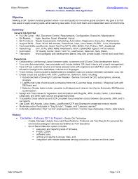 Sample Resume For Quality Assurance Executive New Quality Assurance