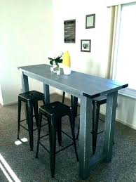 Narrow Bar Table Long Gallery Decoration Ideas And Stools Outdoor