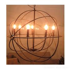 chandeliers foucault orb chandelier high quality replica iron cage industrial foucaults polished nickel
