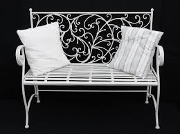 white wrought iron furniture. double arm chair antique white 800x595 wrought iron furniture