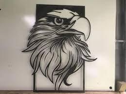 patriotic eagle metal art wall hanging