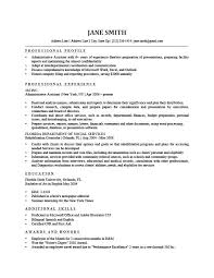 Resume Profile Summary Wonderful How To Write A Professional Profile Resume Genius
