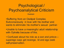 literary criticism schools of thought concepts key terms and  psychological psychoanalytical criticism example suffering from an oedipal complex