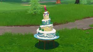 Fortnite Birthday Cake Locations Where To Dance In Front Of