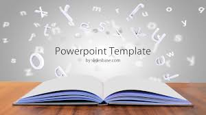 Powerpoint Backgrounds Educational Open Book On Desk Powerpoint Template