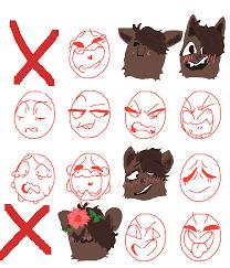 Pixilart W I P Oc Emotions Chart Thingy By Kai Does Art