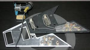 my flying v is now a p90 rock machine my les paul forum here it is wired and ready to install
