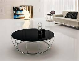 black modern round coffee table