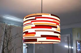 image vintage drum pendant lighting. Exellent Lighting Etsy Large Drum Pendant Light Fixture Custom Colorful Strips Made To  Order Awe Inspiring Classic Throughout Image Vintage Lighting V