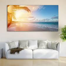 coastal print ocean wall art tropical decor nature sunrise wal on tropical themed wall art with best coastal decor wall art products on wanelo