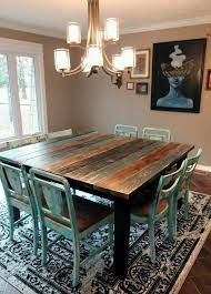 rustic kitchen table popular designs color ideas dining square room diy