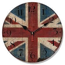 telisha wooden wall clock uk