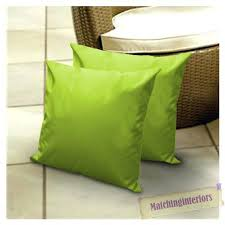 Green Outdoor Cushions Lime Water Resistant Outdoor Scatter