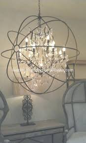 chandeliers orb chandelier with crystal inspirations of amazing throughout view 3 benita antique black 4