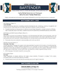 Stunning Bartender Resume Objective Examples 73 On Resume Format with Bartender  Resume Objective Examples